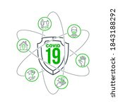 set of coronavirus covid19... | Shutterstock . vector #1843188292