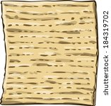 vector illustration of matzo... | Shutterstock .eps vector #184319702