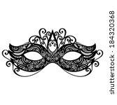 beautiful masquerade mask ... | Shutterstock . vector #184320368