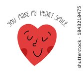 cute valentines day greeting... | Shutterstock .eps vector #1843218475