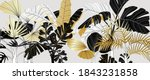 luxury gold and black tropical... | Shutterstock .eps vector #1843231858