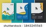 set of business flyer with... | Shutterstock .eps vector #1843245565