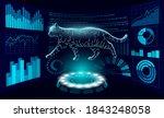 cat silhouette veterinary... | Shutterstock .eps vector #1843248058