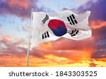 Large Flag Of South Korea...