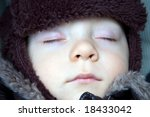sleeping baby boy winter | Shutterstock . vector #18433042