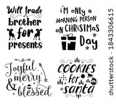beautiful christmas calligraphy ... | Shutterstock .eps vector #1843306615