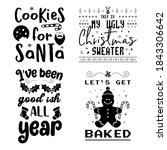funny christmas calligraphy... | Shutterstock .eps vector #1843306642