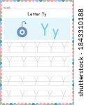 alphabet tracing worksheet.... | Shutterstock .eps vector #1843310188