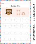 alphabet tracing worksheet.... | Shutterstock .eps vector #1843310215