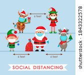 santa claus in a hat with a bag ... | Shutterstock .eps vector #1843322578