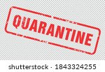 quarantine sign. virus... | Shutterstock .eps vector #1843324255