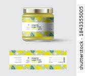 lemon jam label and packaging.... | Shutterstock .eps vector #1843355005