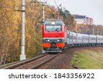 Passenger Train Moves By The...