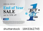 end of year sale up to 50  off. ... | Shutterstock .eps vector #1843362745