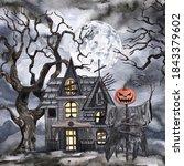 Watercolor Halloween Night...