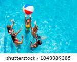 Group Of Kids In Swimming Pool...