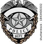 police dept. officer badge... | Shutterstock .eps vector #1843400332