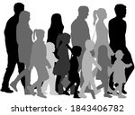 group of people silhouettes.... | Shutterstock . vector #1843406782