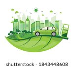 environmentally friendly with... | Shutterstock .eps vector #1843448608