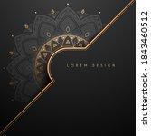 gold and black ornamental... | Shutterstock .eps vector #1843460512