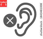 deaf glyph icon  disability and ... | Shutterstock .eps vector #1843481008
