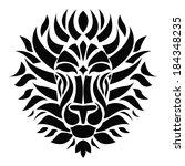 lion silhouette | Shutterstock .eps vector #184348235
