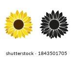 sunflower flower isolated on... | Shutterstock .eps vector #1843501705