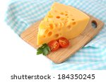 piece of cheese and tomatoes ... | Shutterstock . vector #184350245