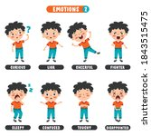little kid with different...   Shutterstock .eps vector #1843515475