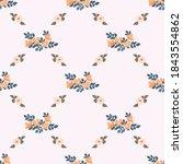 pretty vintage feedsack pattern ...   Shutterstock .eps vector #1843554862