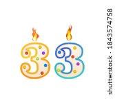 thirty three years anniversary  ... | Shutterstock .eps vector #1843574758