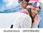 Smiling Couple In Ski Wear...
