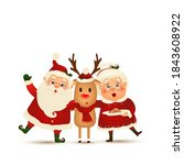 merry christmas. happy new year.... | Shutterstock .eps vector #1843608922