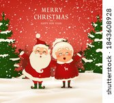 merry christmas. happy new year.... | Shutterstock .eps vector #1843608928