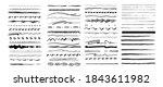 set of vector grunge brushes.... | Shutterstock .eps vector #1843611982