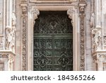 main door of the milan... | Shutterstock . vector #184365266