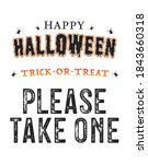 happy halloween banner  please... | Shutterstock .eps vector #1843660318