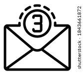 full mail inbox icon. outline...   Shutterstock .eps vector #1843661872