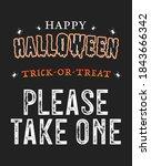 happy halloween banner  please... | Shutterstock .eps vector #1843666342