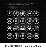 info graphic elements  icons | Shutterstock .eps vector #184367522