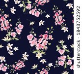 seamless pattern sweet pink and ... | Shutterstock .eps vector #1843752592