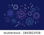 exploding festival firework.... | Shutterstock .eps vector #1843821928