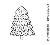 fir tee for christmas... | Shutterstock .eps vector #1843826725