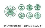 set of nature logo design with... | Shutterstock .eps vector #1843841275