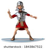 Fun 3d Cartoon Roman Soldier...