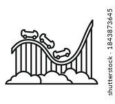 roller coaster attraction icon. ... | Shutterstock .eps vector #1843873645
