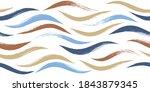 seamless wave pattern  hand...   Shutterstock .eps vector #1843879345