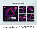 music event square banner.... | Shutterstock .eps vector #1843887355