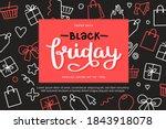 black friday banner template... | Shutterstock .eps vector #1843918078
