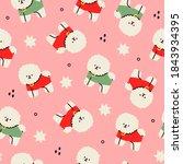 cute bichon frise. white fluffy ... | Shutterstock .eps vector #1843934395